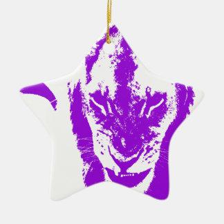 Purple Lion King Ornament