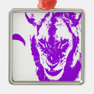 Purple Lion King Christmas Tree Ornament