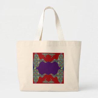 Purple lips Dimple Chin - No Love No Life Large Tote Bag