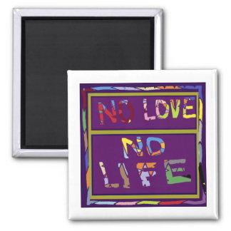 Purple lips Dimple Chin - No Love No Life Refrigerator Magnet