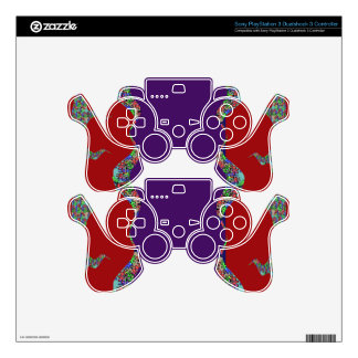 Purple lips Dimple Chin - No Love No Life PS3 Controller Decal