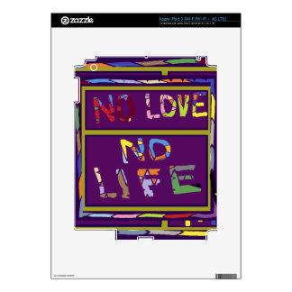 Purple lips Dimple Chin - No Love No Life Skin For iPad 3
