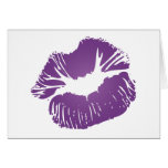 Purple Lips Greeting Cards
