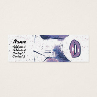 Purple Lips - Skinny Mini Business Card