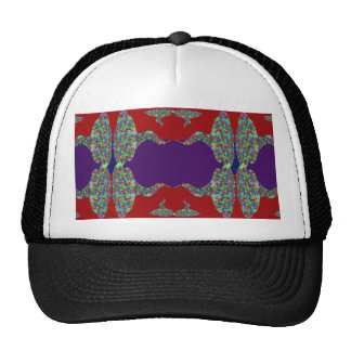 Purple LIPS: Space to add text Greeting Name Bless Mesh Hat