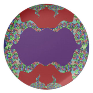 Purple LIPS Space to add text Greeting Name Bless Plate