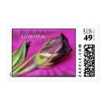 Purple Lisianthus stamp