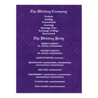 """Purple Little Flowers and Dots Wedding V2 6.5"""" X 8.75"""" Invitation Card"""