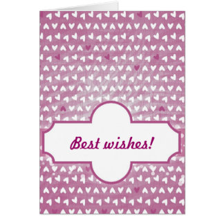 purple little hearts greeting cards