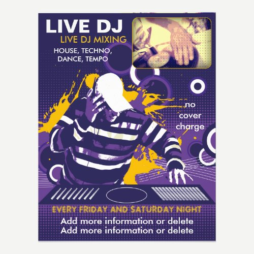 Purple Live DJ Flyer
