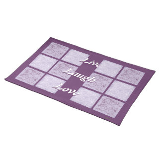 Purple Live Laugh Love Placemat