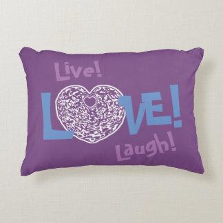 PURPLE Live! Laugh! LOVE! Sweetie❤ Accent Pillow
