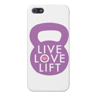 "Purple ""Live Love Lift"" iPhone 5 Cases"