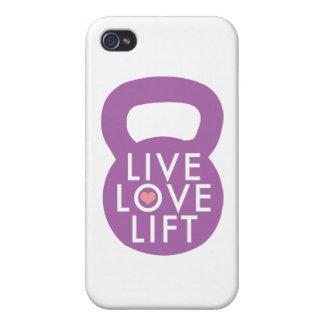"Purple ""Live Love Lift"" iPhone 4/4S Case"
