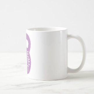 "Purple ""Live Love Lift"" Classic White Coffee Mug"