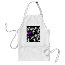Purple lizard pattern adult apron
