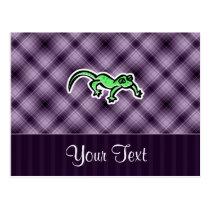 Purple Lizard Postcard