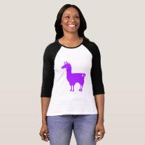 Purple Llama Ladies 3/4 T-Shirt