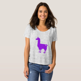 Purple Llama Ladies Slouchy T-Shirt