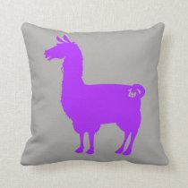 Purple Llama Pillow