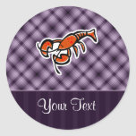 Purple Lobster Classic Round Sticker
