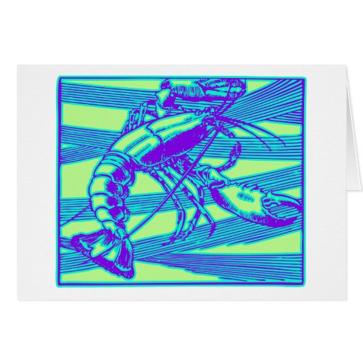 Purple Lobster Modern Graphic Card