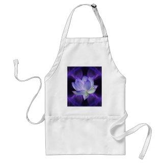 Purple Lotus and sacred geometry Adult Apron