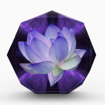 """Purple Lotus and sacred geometry Award<br><div class=""""desc"""">The flower symbolism associated with the lotus is estranged love and forgetfulness of the past. The lotus is the national flower of India. The blue or Indian lotus, also known as the bean of India and the sacred water-lily of Hinduism and Buddhism. Lotus roots are also used widely in Asian...</div>"""