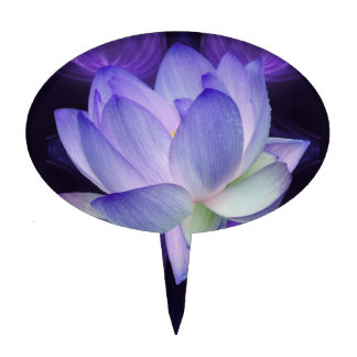 Purple Lotus and sacred geometry Cake Toppers