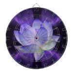 Purple Lotus and sacred geometry Dart Boards