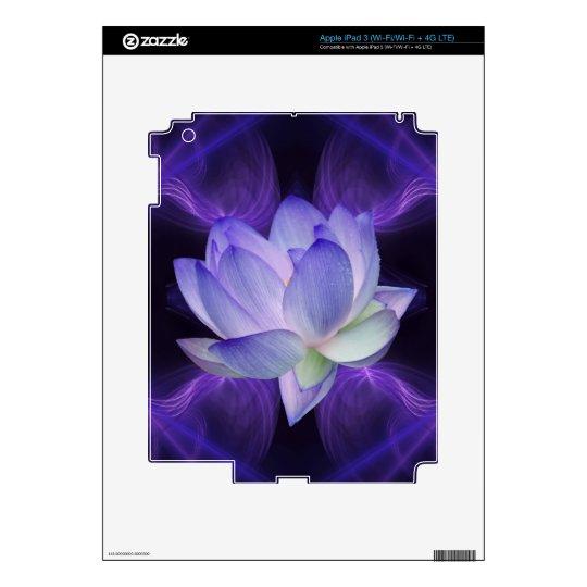 Purple Lotus and sacred geometry iPad 3 Decals