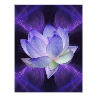 Purple Lotus and sacred geometry Letterhead