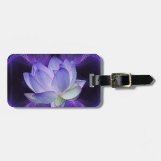 Purple Lotus and sacred geometry Luggage Tag