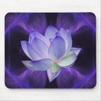Purple Lotus and sacred geometry Mousepads