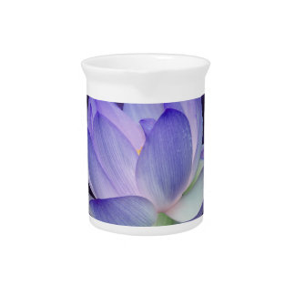 Purple Lotus and sacred geometry Beverage Pitchers