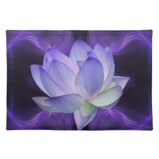 Purple Lotus and sacred geometry Placemats