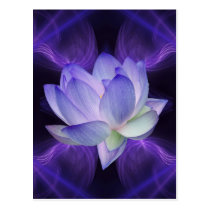 Purple Lotus and sacred geometry Postcard