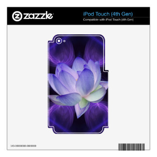 Purple Lotus and sacred geometry Skins For iPod Touch 4G