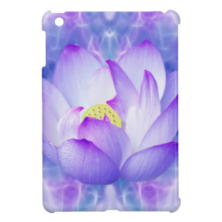 Purple lotus flower and fractal crystals cover for the iPad mini