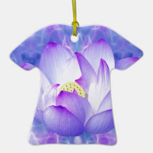 Purple lotus flower and fractal crystals ornament