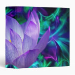 Purple lotus flower and its meaning 3 ring binders