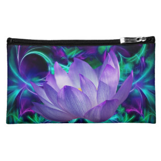 Purple lotus flower and its meaning cosmetic bags
