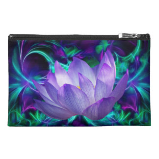 Purple lotus flower and its meaning travel accessories bag