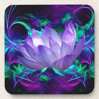 Purple lotus flower and its meaning beverage coaster