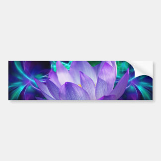 Purple lotus flower and its meaning bumper sticker