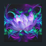 """Purple Lotus flower and its meaning Canvas Print<br><div class=""""desc"""">The flower symbolism associated with the lotus is estranged love and forgetfulness of the past. The lotus is the national flower of India. The blue or Indian lotus, also known as the bean of India and the sacred water-lily of Hinduism and Buddhism. Lotus roots are also used widely in Asian...</div>"""