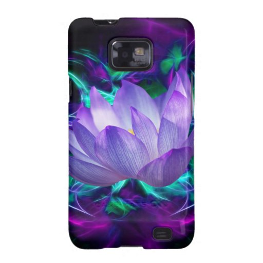 Purple lotus flower and its meaning samsung galaxy SII cases