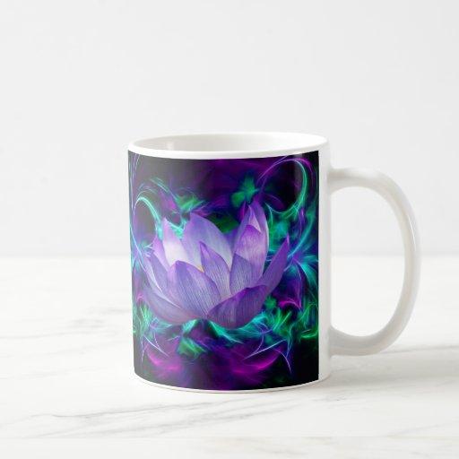 Purple lotus flower and its meaning coffee mug