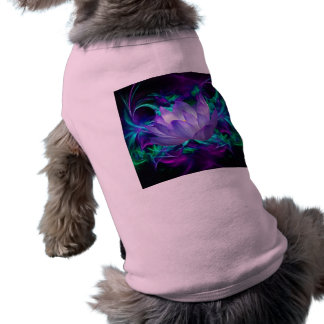 Purple lotus flower and its meaning doggie t-shirt