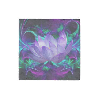 Purple lotus flower and its meaning stone magnet
